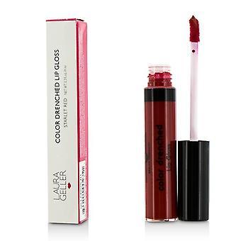 Color de Laura Geller bañada por el brillo de labios - #Starlet rojo 9ml/0,3 oz
