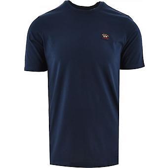 Paul och Shark Blue Heritage Logo Egyptisk bomull T-Shirt
