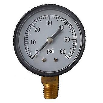 "Jed Pool 80-845-B 0.25"" lower Mount Pressure Gauge"