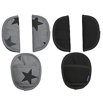 Original Dooky Universal Strap Pads; Belt Pads; Seatpads Suitable for Age Group 0+ and 3 & 5 Point Straps for Baby Carrier Stroller Buggy or Car Seat