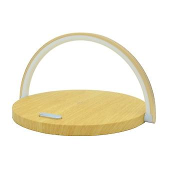 10W Qi Fast Wireless Charger Table Lamp For I Phone Charging Night Light  LED Night Lights(Yellow)