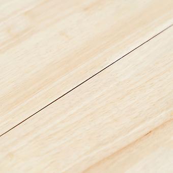 vidaXL 5 stuks. Eetkamergroep rubber hout massief wit en bruin