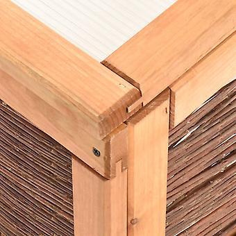 vidaXL vroege biet 240x80x45 cm grenen massief hout en weiland