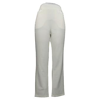 Antthony Women's Pants Reg Crystal Couture Knit Boss Lady White 726478