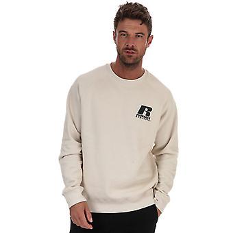 Men's Russell Athletic Crew Neck Sweatshirt in Cream