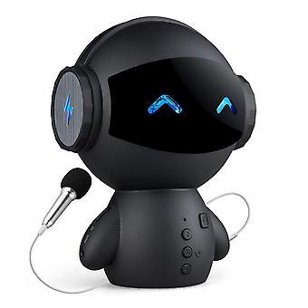 Mini intelligent robot wireless speaker bass portable wireless speakers support tf card power bank for bedroom bedside