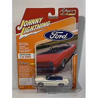 1968 Ford Fairlane Torino GT Convertible White Johnny Lightning 1:64 JLCG021A