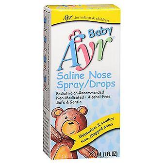 Ayr Ayr Babys Saline Nose Spray Drops, 1 oz