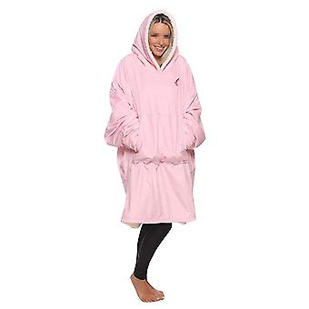Pink in chart ladies hooded warm double-sided pajamas homi3785