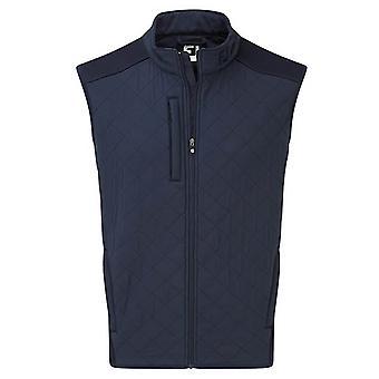 Footjoy Mens Quilted Water Repellent Fleece Zip Pockets FJ Logo Golf Vest