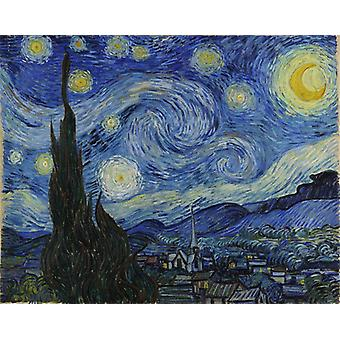 The Starry Night,vincent Van Gogh Art Reproduction.impressionism Modern Hd Art Print Poster, Canvas Prints Wall Art For Office Home Decor Pictures