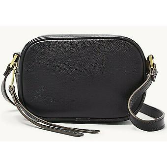 Fossil Maisie Black Leather Oval Crossbody Bag SHB2419001