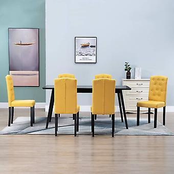 vidaXL chaises à manger 6 pcs jaune tissu