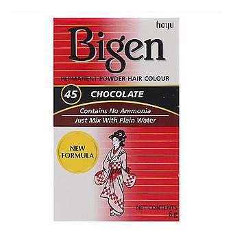 Permanent Dye Bigen Nº 45 Chocolate (6 gr)