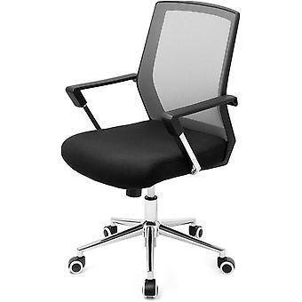 Bürostuhl mit Netzbezug, höhenverstellbarer Chefsessel, Schreibtischstuhl mit Wippfunktion,