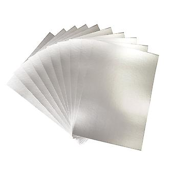 50 A4 230gsm Matt Silver Card Sheets for Kids Crafts | Coloured Card for Crafts
