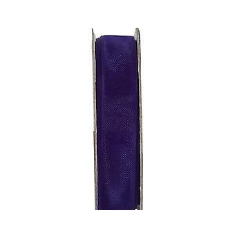 LAST FEW - 3m Deep Purple 10mm Wide Organza Craft Ribbon