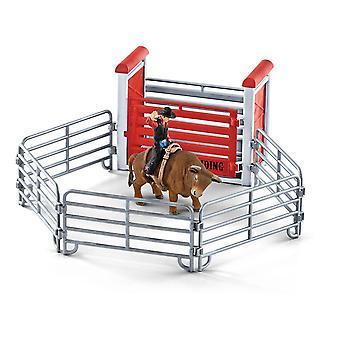 Farm World Bull Riding mit Cowboy Toy Playset
