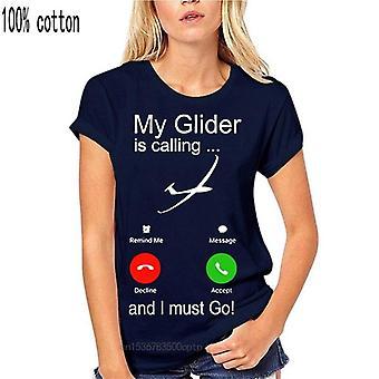 Nieuw mijn zweefvliegtuig roept, en ik moet gaan, stijgende zweefvliegtuig t-shirt 9105 tiener pop top T-shirt