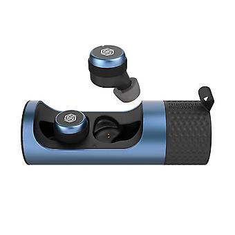 Bluetooth-наушники, с CVC 8.0 шумоподавляющим беспроводным наушником 65 часов игрового времени, Bluetooth 5.0 гарнитура HiFi для спорта и работы, IPX5 водонепроницаемый (синий)