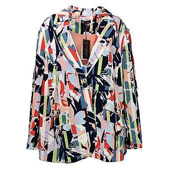 DG2 by Diane Gilman Women's Plus Suit Jacket/Blazer Stretch White 687782