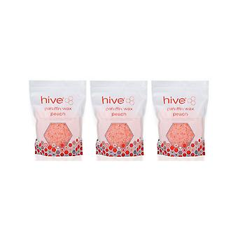 Hive Of Beauty 3 For 2 Waxing Peach Paraffin Heat Therapy Treatment 700g Pellets