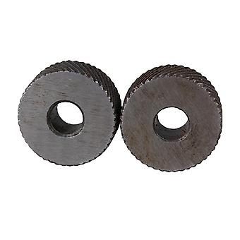 Pulleys, blocks sheaves steel metalworking knurling tool diagonal knurl wheel 1mm pitch set of 2