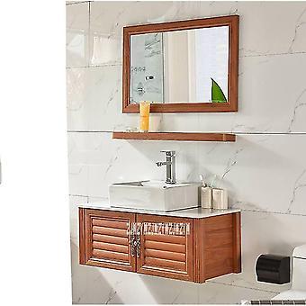 Petit espace mural en aluminium Lavabo en céramique de salle de bain
