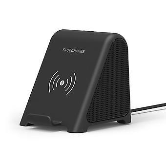 3 In 1Portable Speaker Bluetooth Play Music Phone Wireless Charging For IPhoneSpeakers(Black)