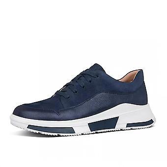 FitFlop Freya™ Suede Sneakers In Midnight Navy