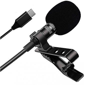 A Lavalier Mini mikrofon a telefonhoz, az USB C clip-on hajtóka mikrofon professzionális változata,