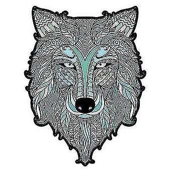 Jigsaw puzzles ice wolf jigsaw puzzle piece game for kids and adults a4