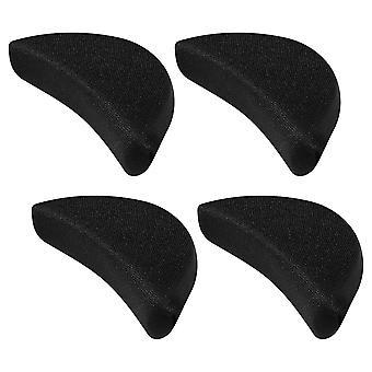 Healifty 2 par Myk Svamp Tå Tå Plugg Fotstøtte SkoFyller Unisex Skoinnlegg For å få store sko til å passe en størrelse (svart)