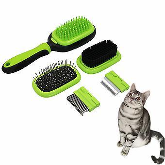 5 en 1 Brosse de soins pour animaux de compagnie Kit de massage pour chien Brosse pour chien Brosse de bain pour chat / Outil d'épilation à l'aiguille