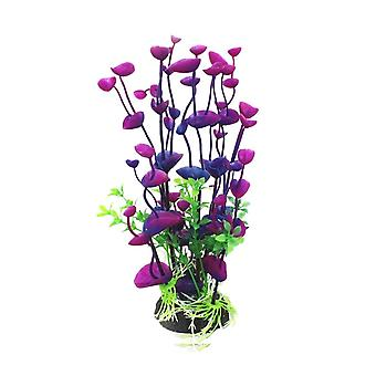 Umělá plastová rostlina pro akvarijní dekorace, fialová, jedna velikost