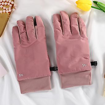 Winter Printed And Fleece Gloves For Warm Cycling