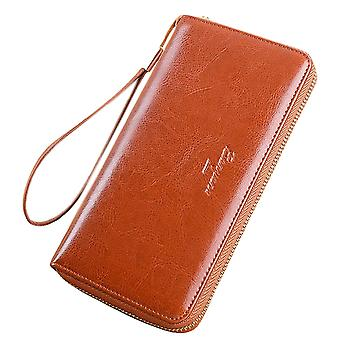 Vintage Leather Long Clutch Wallet