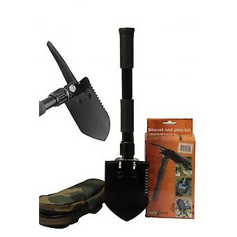 Shovel and Pick Kit in Pouch Portable For Camp Outdoor or Home