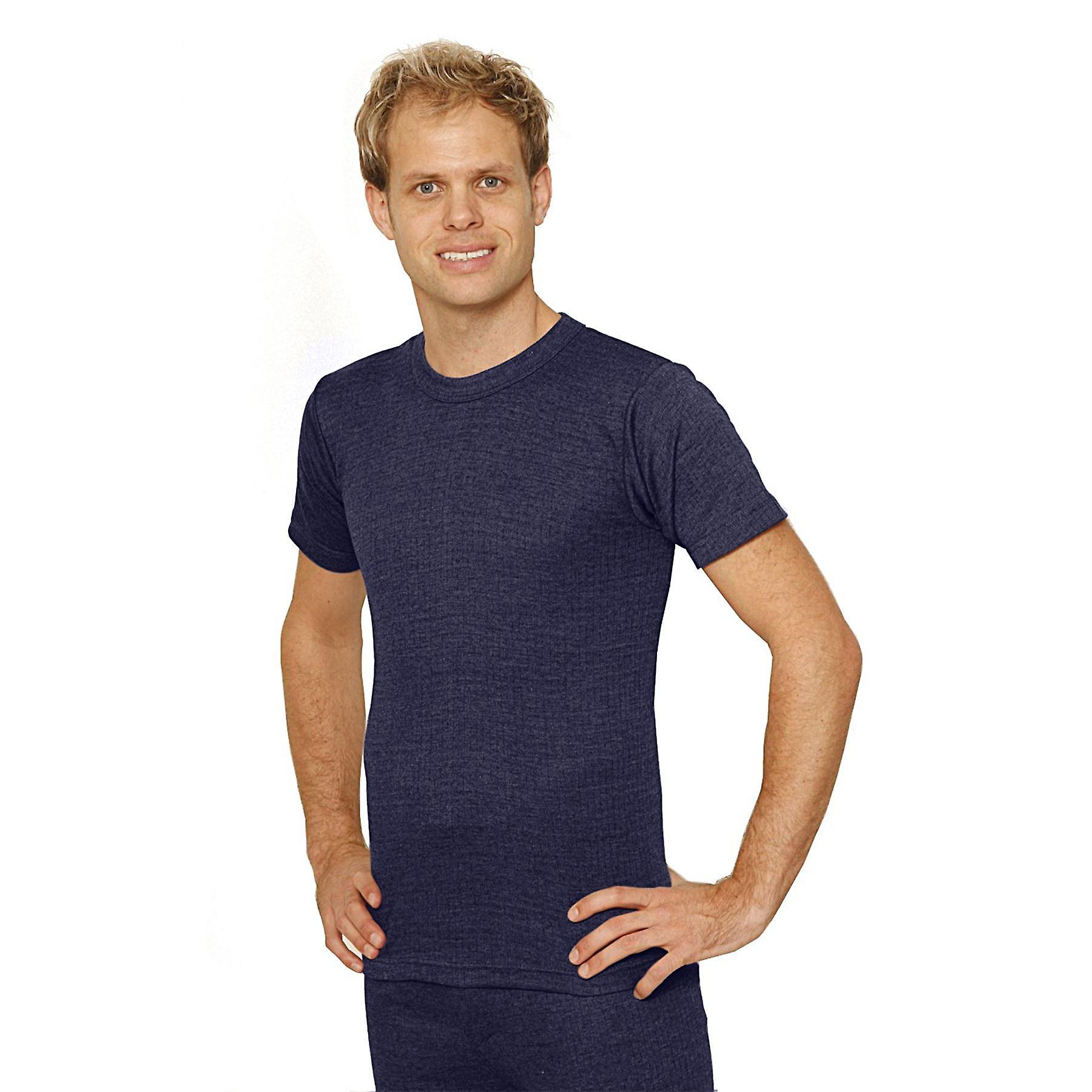 OCTAVE Mens Thermal Underwear Short Sleeve T-Shirt / Vest / Top