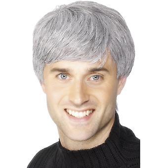 Grått hår peruk sky du Mont kort hår peruk grå