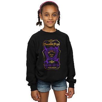 ハリー ・ ポッターの女の子チョコレート カエル色ラベルのスエット シャツ