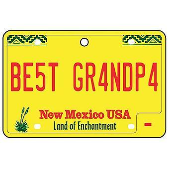 New Mexico - Best Grandpa License Plate Car Air Freshener