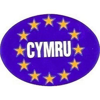 W4 Oval Euro CYMRU/Wales Sticker