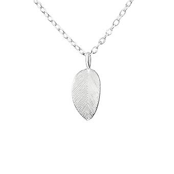 Leaf - 925 Sterling Silver Plain Necklaces - W36499x