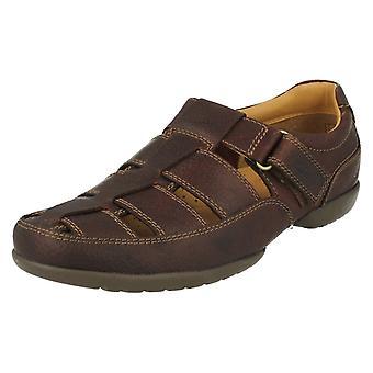 Mens Clarks Wide Fitting Sandals Recline Open