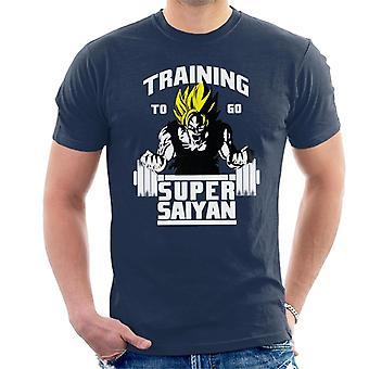 Dragon Ball Z opplæring gå Super Saiyaner menn t-skjorte