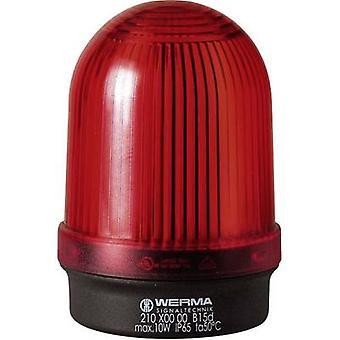 Werma Signaltechnik Luz 210.100.00 210.100.00 Señal roja de luz sin parar 12 V AC, 12 V DC, 24 V AC, 24 V DC, 48 V AC, 48 V DC, 110 V AC, 230 V AC
