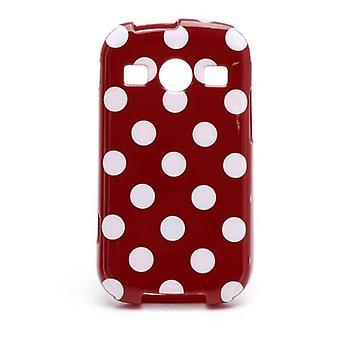 Estojo protetor para celular Samsung Galaxy Xcover 2 S7710 vermelho