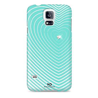 Witte diamanten Heartbeat Case voor Samsung Galaxy S5 - Mint