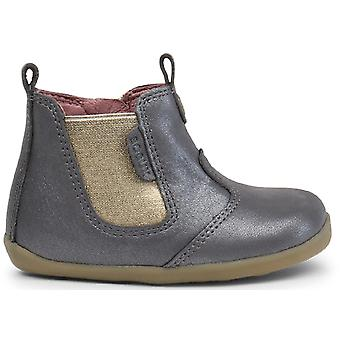 Bobux Step Up Girls Jodphur Boots Charcoal Shimmer
